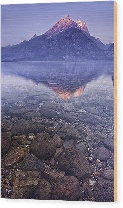 Mountain Lake Wood Print by Andrew Soundarajan