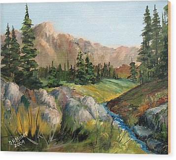 Mountain Stream Wood Print by Dorothy Maier