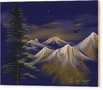 Mountains Wood Print by Twinfinger