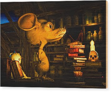 Mouse In The Attic Wood Print by Bob Orsillo