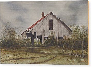 Mr. Munker's Old Barn Wood Print by Charles Fennen