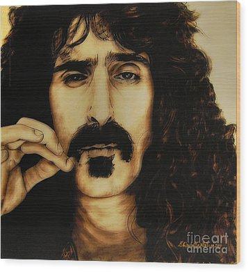 Mr Zappa Wood Print by Betta Artusi