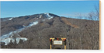 Mt Snow Vermont Wood Print by Mary Anne Williams
