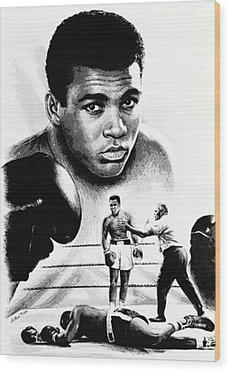 Muhammad Ali The Greatest Wood Print by Andrew Read