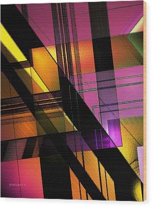 Multicolored Combination Art Wood Print by Mario Perez