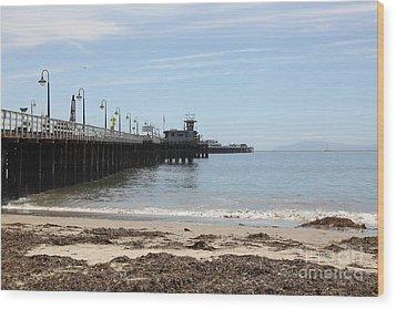 Municipal Wharf At The Santa Cruz Beach Boardwalk California 5d23766 Wood Print by Wingsdomain Art and Photography