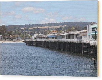 Municipal Wharf At The Santa Cruz Beach Boardwalk California 5d23815 Wood Print by Wingsdomain Art and Photography
