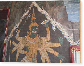 Mural - Grand Palace In Bangkok Thailand - 01134 Wood Print by DC Photographer
