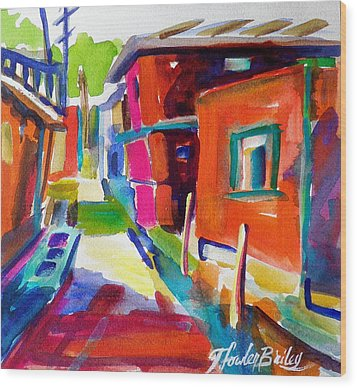 Murano Back Street Italy Wood Print by Therese Fowler-Bailey