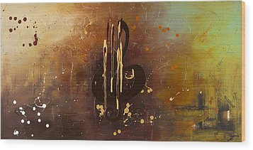 Music All Around Us Wood Print by Carmen Guedez