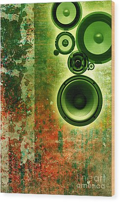 Music Background Wood Print by Christophe ROLLAND