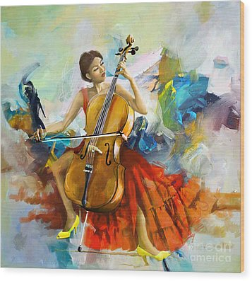 Music Colors And Beauty Wood Print by Corporate Art Task Force