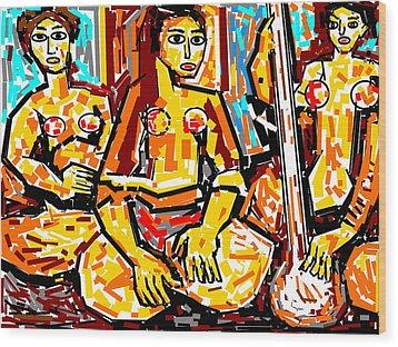 Musicians Wood Print by Anand Swaroop Manchiraju