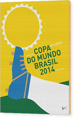 My 2014 World Cup Soccer Brazil - Rio Minimal Poster Wood Print by Chungkong Art