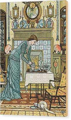 My Lady's Chamber Wood Print by Walter Crane
