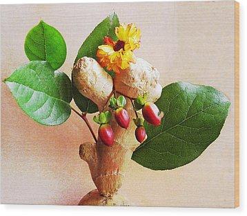 My Little Ginger Tree 2 Wood Print by Sarah Loft