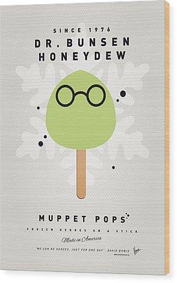 My Muppet Ice Pop - Dr Bunsen Honeydew Wood Print by Chungkong Art