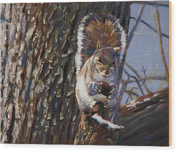 My Nut Wood Print by Christopher Reid