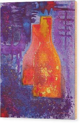 My Old Wine Bottles Wood Print by Mario Perez
