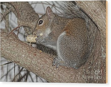 My Peanut Wood Print by Deborah Benoit