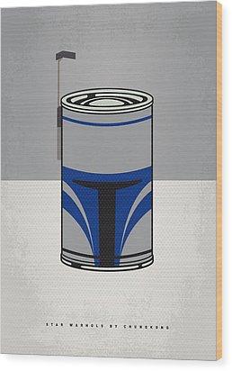 My Star Warhols Jango Fett Minimal Can Poster Wood Print by Chungkong Art