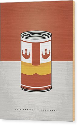 My Star Warhols Luke Skywalker Minimal Can Poster Wood Print by Chungkong Art