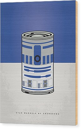 My Star Warhols R2d2 Minimal Can Poster Wood Print by Chungkong Art