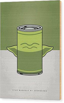 My Star Warhols Yoda Minimal Can Poster Wood Print by Chungkong Art