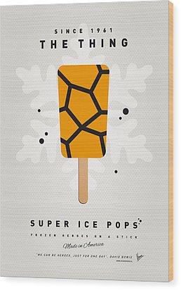 My Superhero Ice Pop - The Thing Wood Print by Chungkong Art