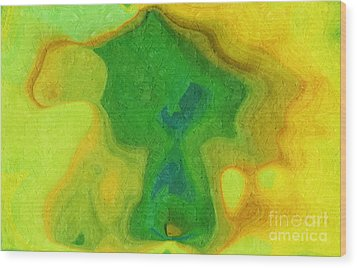 My Teddy Bear - Digital Painting - Abstract Wood Print by Andee Design