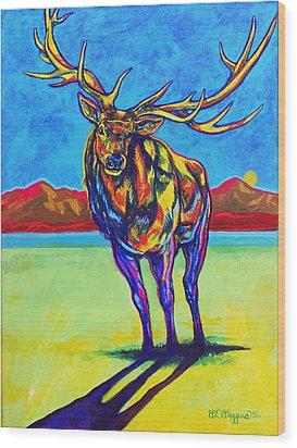 Mythical Elk Wood Print by Derrick Higgins