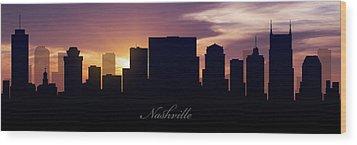 Nashville Sunset Wood Print by Aged Pixel