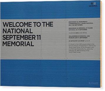 National 9/11 Memorial  Wood Print by Rob Hans