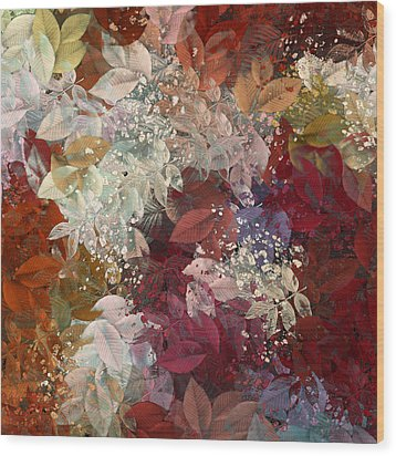 Naturaleaves - 88c02 Wood Print by Variance Collections