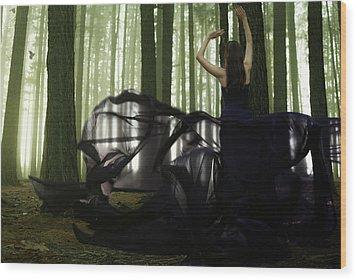 Nature Goddess Wood Print by Fern Evans