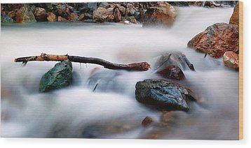 Natures Balance - White Water Rapids Wood Print by Steven Milner