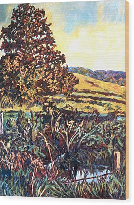 Near Childress Wood Print by Kendall Kessler