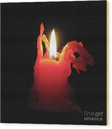 Nearing Burnout Wood Print by Ann Horn