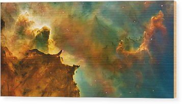 Nebula Cloud Wood Print by The  Vault - Jennifer Rondinelli Reilly