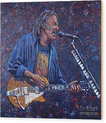 Neil Young Wood Print by John Cruse Knotts