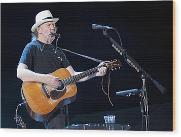 Neil Young Wood Print by Shawn Everhart