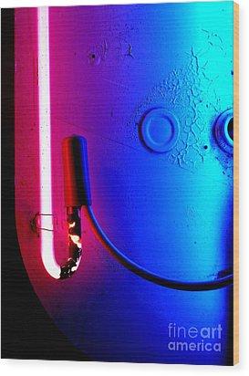 Neon Glow 2 Wood Print by Newel Hunter