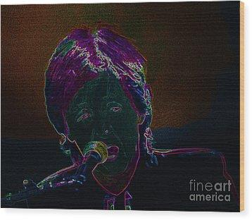 Neon Sir Paul Wood Print by Tina M Wenger