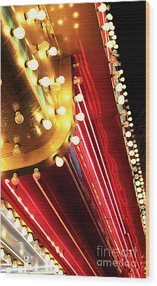Neon Vegas Wood Print by John Rizzuto