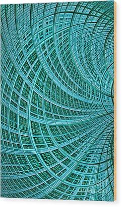 Network Wood Print by John Edwards