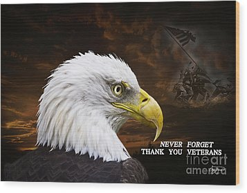 Never Forget - Memorial Day Wood Print by Cris Hayes