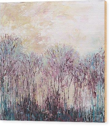 New England Landscape No.100 Wood Print by Sumiyo Toribe