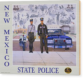 New Mexico State Police Poster Wood Print by Randy Follis