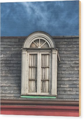 New Orleans Window Wood Print by Brenda Bryant