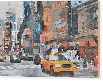 New York 6 Wood Print by Yury Malkov